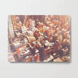 New York City Skyline Summer Metal Print