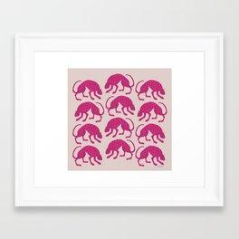 Wild Cats - Pink Framed Art Print