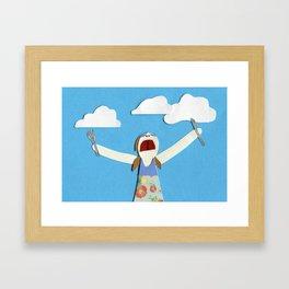 Cloud-eater Framed Art Print