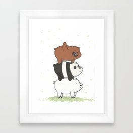 We Bare Bears by Maria Piedra Framed Art Print