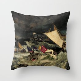 Boater Suppression (The Battle of Lake Travis) Throw Pillow