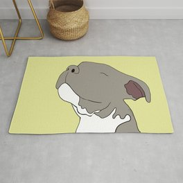Sunny The Pitbull Puppy Rug