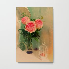 antic roses Metal Print