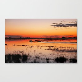 Evening in Africa Canvas Print