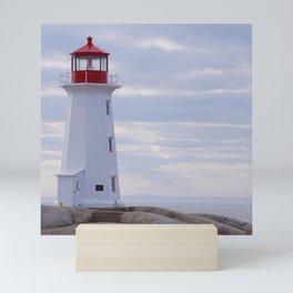 Canada Photography - Lighthouse On A Stone Hill Mini Art Print