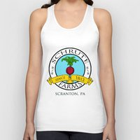 dwight Tank Tops featuring Schrute Farms | The Office - Dwight Schrute by Silvio Ledbetter