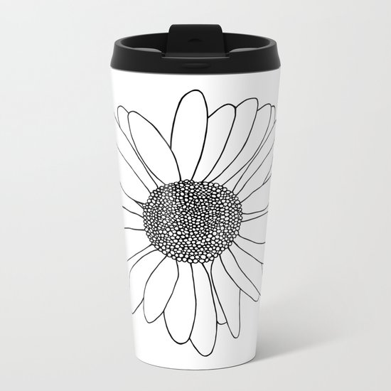 Daisy Metal Travel Mug