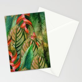 Painted Jungle Leaves 2 Stationery Cards