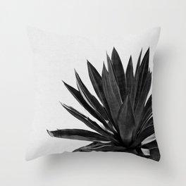 Agave Cactus Black & White Throw Pillow