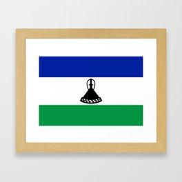 Flag of Lesotho Framed Art Print