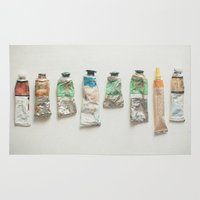 oil Area & Throw Rugs featuring Oil Paints by Cassia Beck