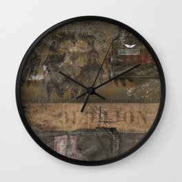 Old Lion (Boro Style) Wall Clock