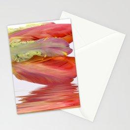 Orange Parrot Tulip Reflecting Stationery Cards