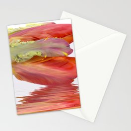 Orange Parrot Tulip Reflecting Stationery Cards