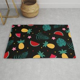 Tropical pineapple watermelon pattern Rug