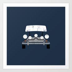 Mini Cooper (The Italian Job) - Vintage Art Print