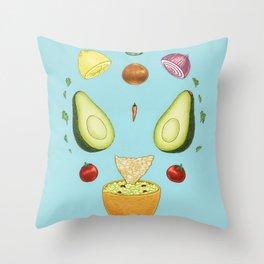 Avocado Mandala Throw Pillow