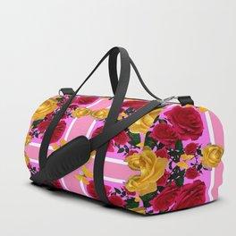 RED-YELLOW ROSES & YELLOW BUTTERFLIES ART Duffle Bag