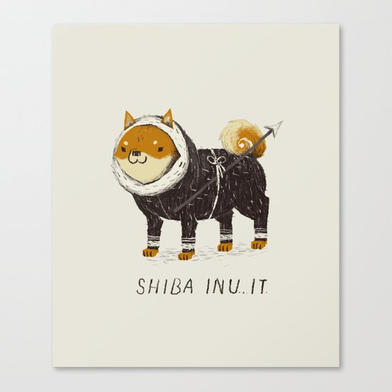 shiba inu-it Canvas Print