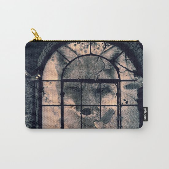 FOX AND BIRDS Carry-All Pouch