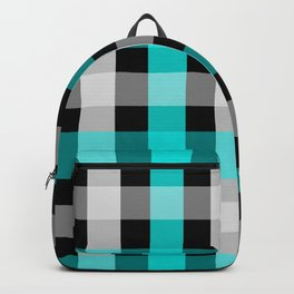 blue black checks Backpack