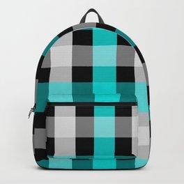 blue black checks Backpack