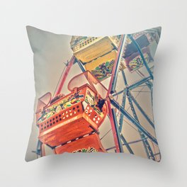 1930's Ferris Wheel Throw Pillow