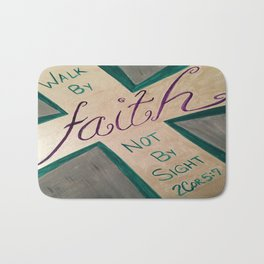 Walk By Faith Bath Mat
