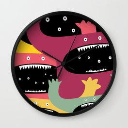 Monster medley. Wall Clock
