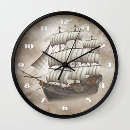 Cloud Ship Wall Clock