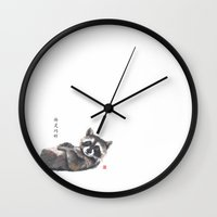 rocky Wall Clocks featuring Rocky by Connie Luebbert