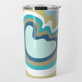 Colca Canyon Stripes Blue Green Travel Mug