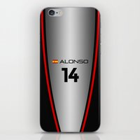 f1 iPhone & iPod Skins featuring F1 2015 - #14 Alonso by MS80 Design