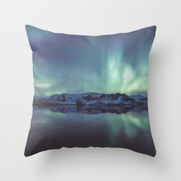 Jokulsarlon Lagoon - Landscape and Nature Photography Throw Pillow