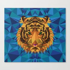 Liger Abstract - Its a Lion Tiger Hybrid Canvas Print