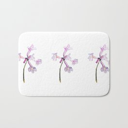 Flowers of the tree *Handroanthus sp* Bath Mat