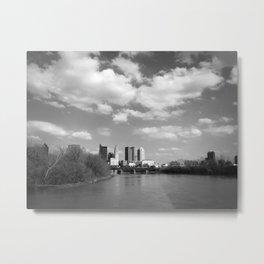 Columbus Ohio 2 - B&W Metal Print