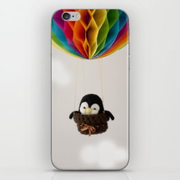 Gus the Penguin in Hot Air Balloon iPhone Skin