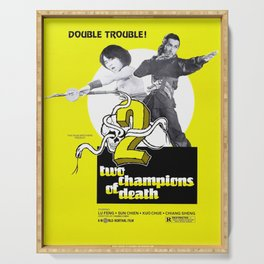 Vintage Film Poster- Two Champions of Death (1980) Serving Tray