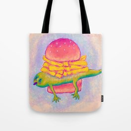 French Fry Newt Burger with Special Sauce Tote Bag
