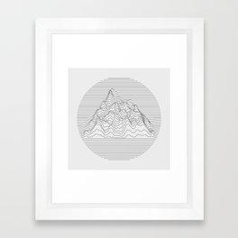 Mountain lines Framed Art Print