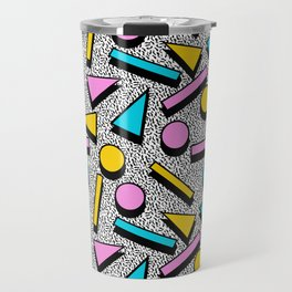 Dig It - memphis throwback retro neon cool rad pattern dorm college hipster neon squiggle abstract Travel Mug