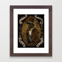 Crobraham Lincoln Framed Art Print