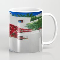 greece Mugs featuring Greece by maggs326