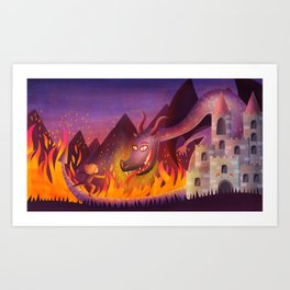 Ninja princess Art Print