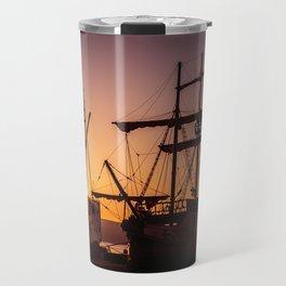 A sailer in the bay of Senj, Croatia Travel Mug