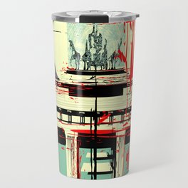 Berlin art Brandenburg Gate Travel Mug