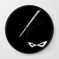 ninja Wall Clocks featuring Ninja by Nicklas Gustafsson