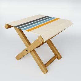 Vintage Retro Stripes Folding Stool