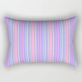 Pastel Colorful Lines Rectangular Pillow